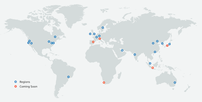 AWS datacenter are spread all around the globe